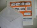 1/4 FOGLIO BIANCO LEONARDO 12X18 CF. 500 PEZZI