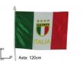 BANDIERINA ITALIA CON LOGO 31X44cm
