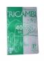 RICAMBIO 4 FORI A RIGHE 40 FOGLI
